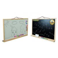 Nástenná kresliaca tabuľa Inlea4Fun SIMPLE TWO obojstranná - Natural