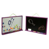 Nástenná kresliaca tabuľa Inlea4Fun SIMPLE TWO obojstranná - fiaľová