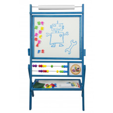 Inlea4Fun detská obojstranná tabuľa BIG BLUE