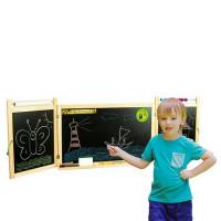 Inlea4Fun detská magnetická školská tabuľa FIRST SCHOOL natural