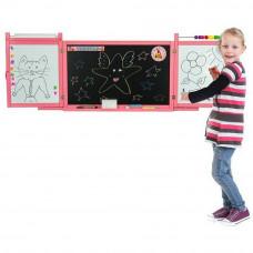 Inlea4Fun detská magnetická školská tabuľa FIRST SCHOOL ružová Preview