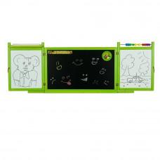 Inlea4Fun detská magnetická školská tabuľa FIRST SCHOOL zelená Preview