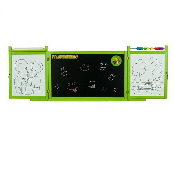 Inlea4Fun detská magnetická školská tabuľa FIRST SCHOOL zelená