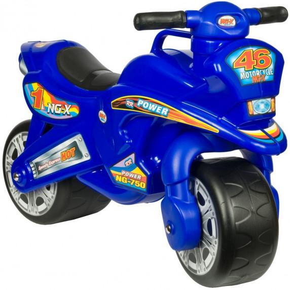 Odrážadlo v podobe motorky Inlea4Fun NG-X Power - modrá