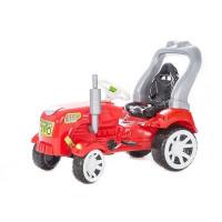 Inlea4Fun Big Farmer traktor s pedálmi - Červená