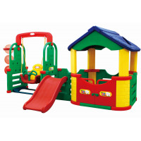 Inlea4Fun 4M detské ihrisko s hojdačkou a šmykľavkou