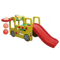 Inlea4Fun detské ihrisko v tvare autobusu so šmykľavkou