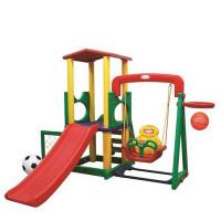Inlea4Fun Mega XL detské ihrisko s hojdačkou a šmykľavkou