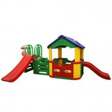 Inlea4Fun Mega detské ihrisko so šmykľavkami a domčekom Preview