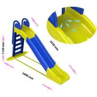 Inlea4Fun Vodná šmykľavka s držadlom - modrá