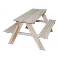 Detská drevená záhradná lavica-piknikový stôl ZO Inlea4Fun