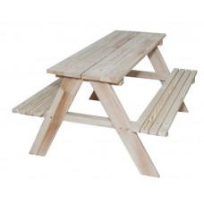 Detská drevená záhradná lavica-piknikový stôl ZO Inlea4Fun Preview