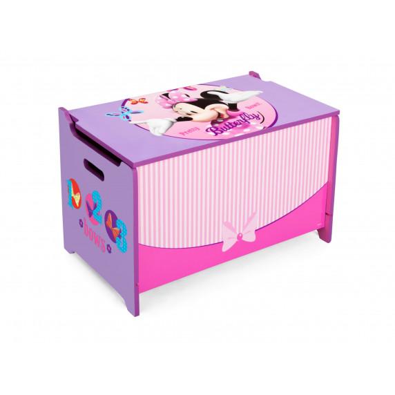 Detská drevená truhla Minnie Mouse