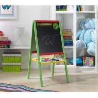 Drevená detská magnetická tabuľa