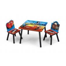 Detský stôl so stoličkami Cars II Preview