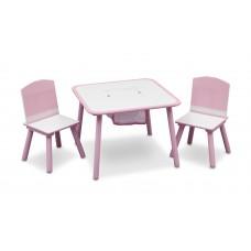 Detský stolík so stoličkami ružový Preview
