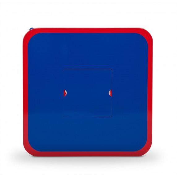 Detský stolík so stoličkami modro-červený