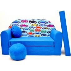 Detská pohovka Autíčka Modrá Preview
