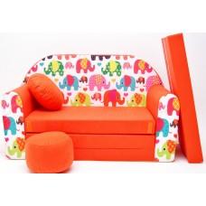 Detská pohovka Sloni Oranžová Preview
