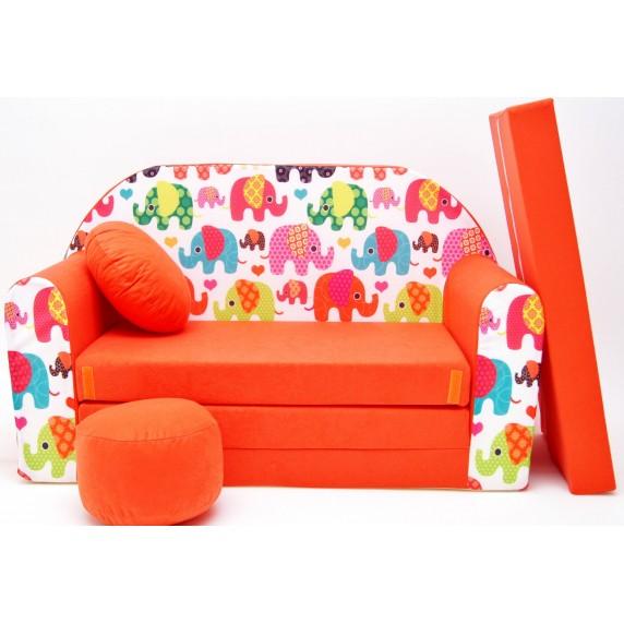 Detská pohovka Sloni Oranžová