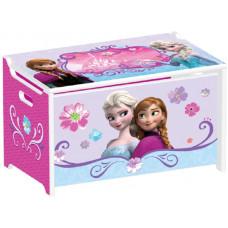 Detské drevená truhla na hračky Frozen Preview