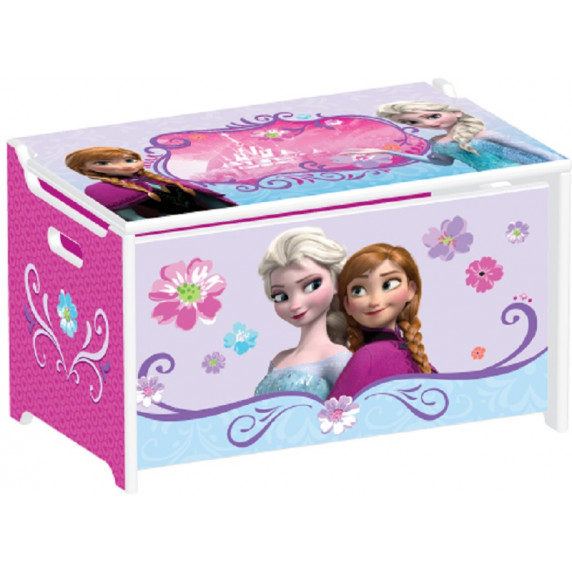 Detské drevená truhla na hračky Frozen