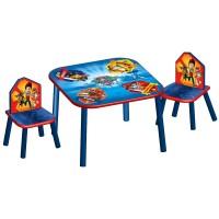 Detský stôl so stoličkami Tlapkova patrola