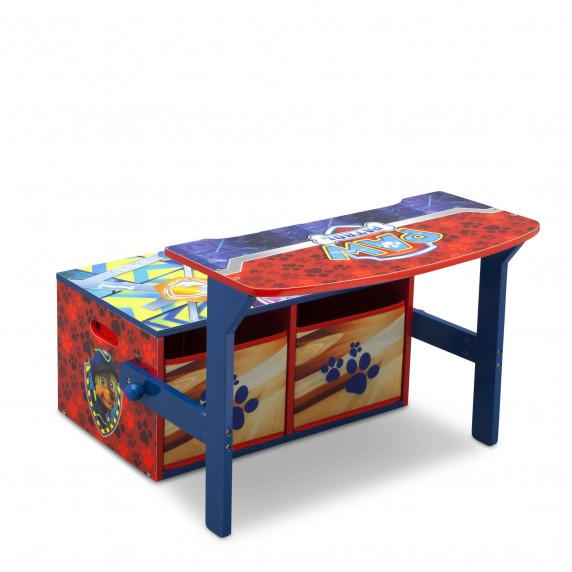 Detská lavica s úložným priestorom Tlapkova patrola