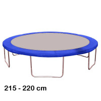 Kryt pružín na trampolínu s celkovým priemerom 220 cm - modrý