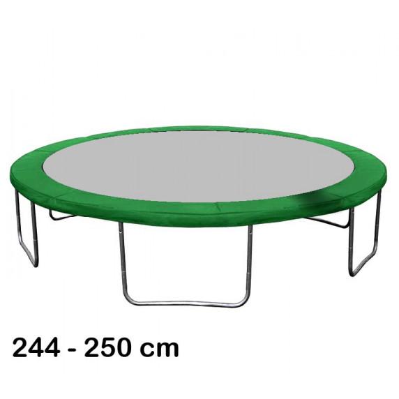 Kryt pružín na trampolínu s celkovým priemerom 250 cm - tmavozelený