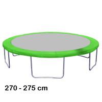 Kryt pružín na trampolínu  s celkovým priemerom 275 cm - svetlozelený