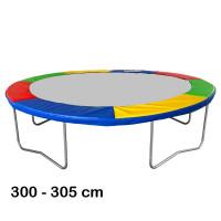 Kryt pružín na trampolínu s celkovým priemerom 305 cm - štvorfarebný