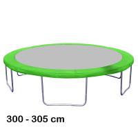 Kryt pružín na trampolínu s celkovým priemerom 305 cm - svetlozelený