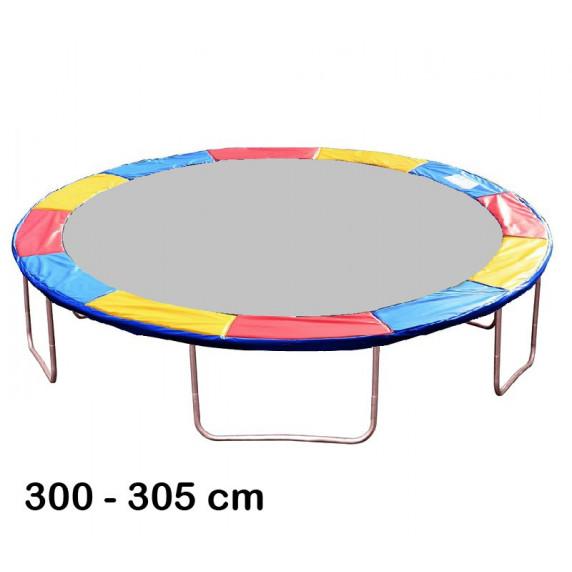 Kryt pružín na trampolínu s celkovým priemerom 305 cm - trikolóra