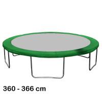 Kryt pružín na trampolínu s celkovým priemerom 366 cm - tmavozelený