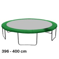 Kryt pružín na trampolínu s celkovým priemerom 400 cm - tmavozelený