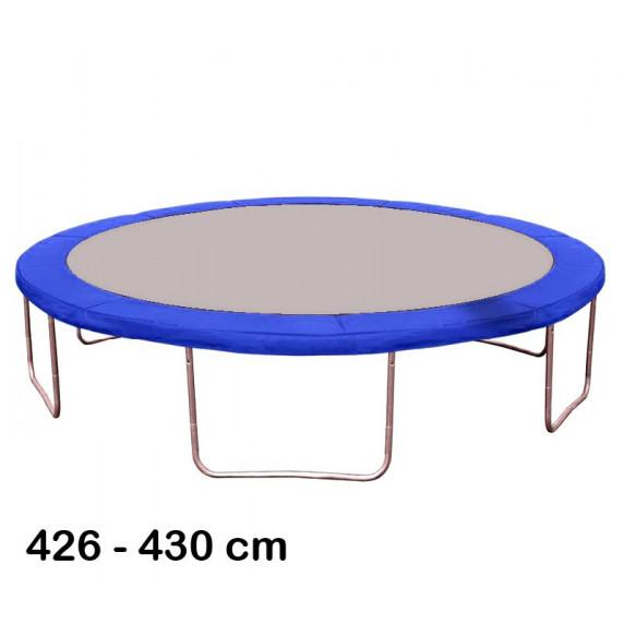 Kryt pružín na trampolínu s celkovým priemerom 430 cm - modrý