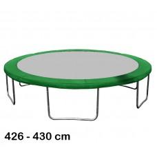 Kryt pružín na trampolínu s celkovým priemerom 430 cm - tmavozelený Preview