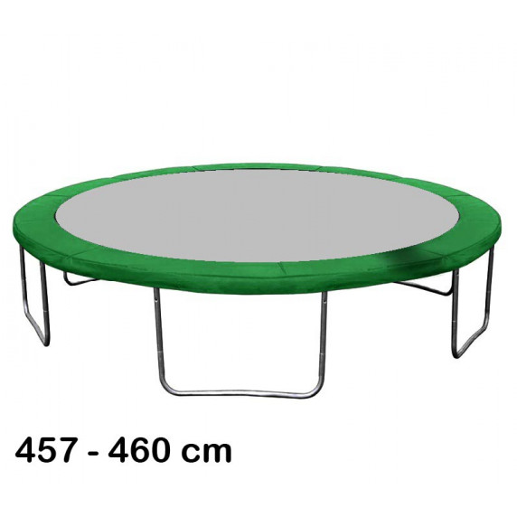 Kryt pružín na trampolínu s celkovým priemerom 460 cm - tmavozelený
