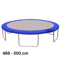 Kryt pružín na trampolínu s celkovým priemerom 500 cm - modrý