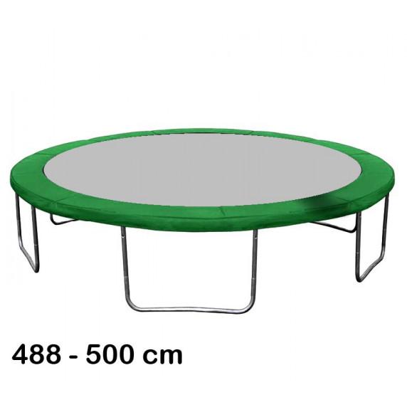Kryt pružín na trampolínu s celkovým priemerom 500 cm - tmavozelený