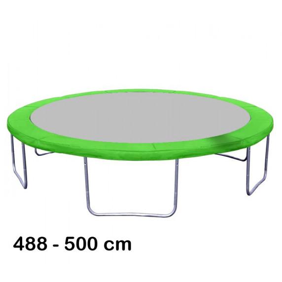 Kryt pružín na trampolínu s celkovým priemerom 500 cm - svetlozelený