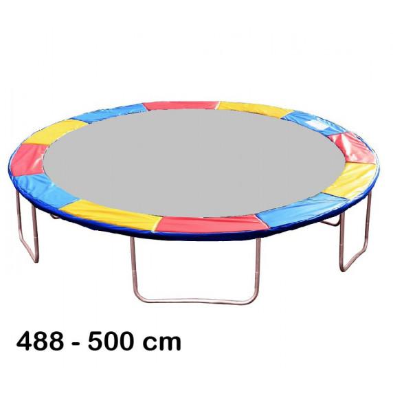 Kryt pružín na trampolínu s celkovým priemerom 500 cm - trojfarebný
