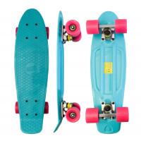 Skateboard MR6018 Aga4Kids - tyrkysový