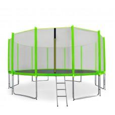 Aga SPORT PRO Trampolína 518 cm Light Green + vonkajšia ochranná sieť + rebrík + vrecko na obuv Preview