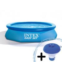 INTEX Easy Set rodinný bazén 305 x 76 cm kartušová filtrácia  28122NP + dávkovač chemikálii