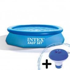 INTEX Easy Set rodinný bazén 305 x 76 cm kartušová filtrácia  28122NP + dávkovač chemikálii Preview