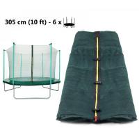 AGA vnútorná ochranná sieť na trampolínu s celkovým priemerom 305 cm na 6 tyčí - dark green
