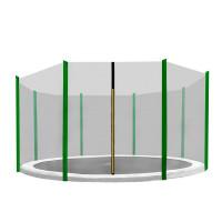 AGA ochranná sieť na trampolínu s celkovým priemerom 366 cm na 8 tyčí - Tmavozelená