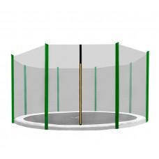 AGA ochranná sieť na trampolínu s celkovým priemerom 366 cm na 8 tyčí - Tmavozelená Preview